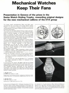 """Mechanical Watches Keep Their Fans"", Europa Star 145, 1984"